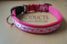 Nylonhalsband LEIDI med färgband 24mm
