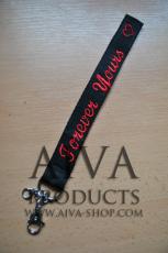 Litet nyckelband med brodyr 24mm AIVA
