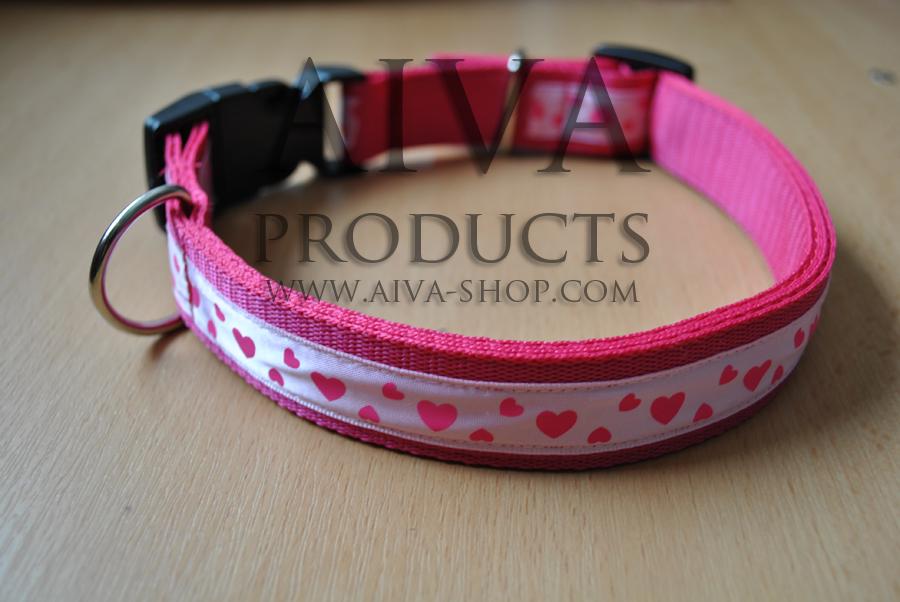 Nylonhalsband LEIDI med färgband 24mm AIVA